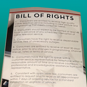 Cable Customer Bill of Rights