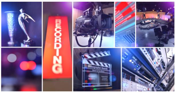 Photo compilation of video and studio equipment