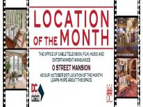 Mansion on O Street - October Location of the Month